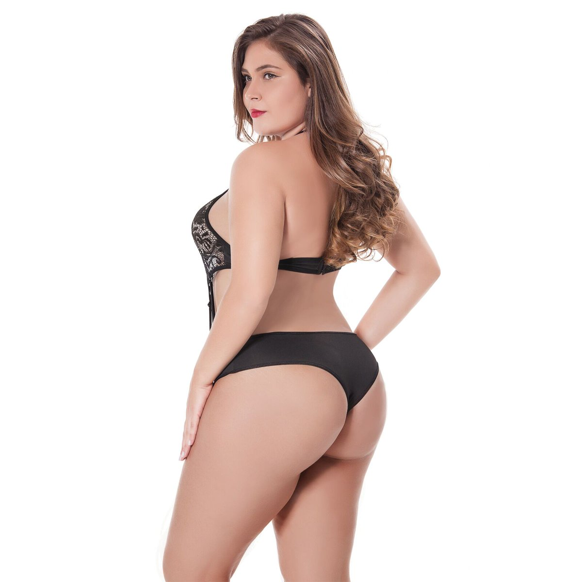 402cde2a51a Moonfate Plus Size Women Teddy Bodysuit High Neck Lace Sheer Mesh One Piece  Babydoll Sexy Lingerie ...