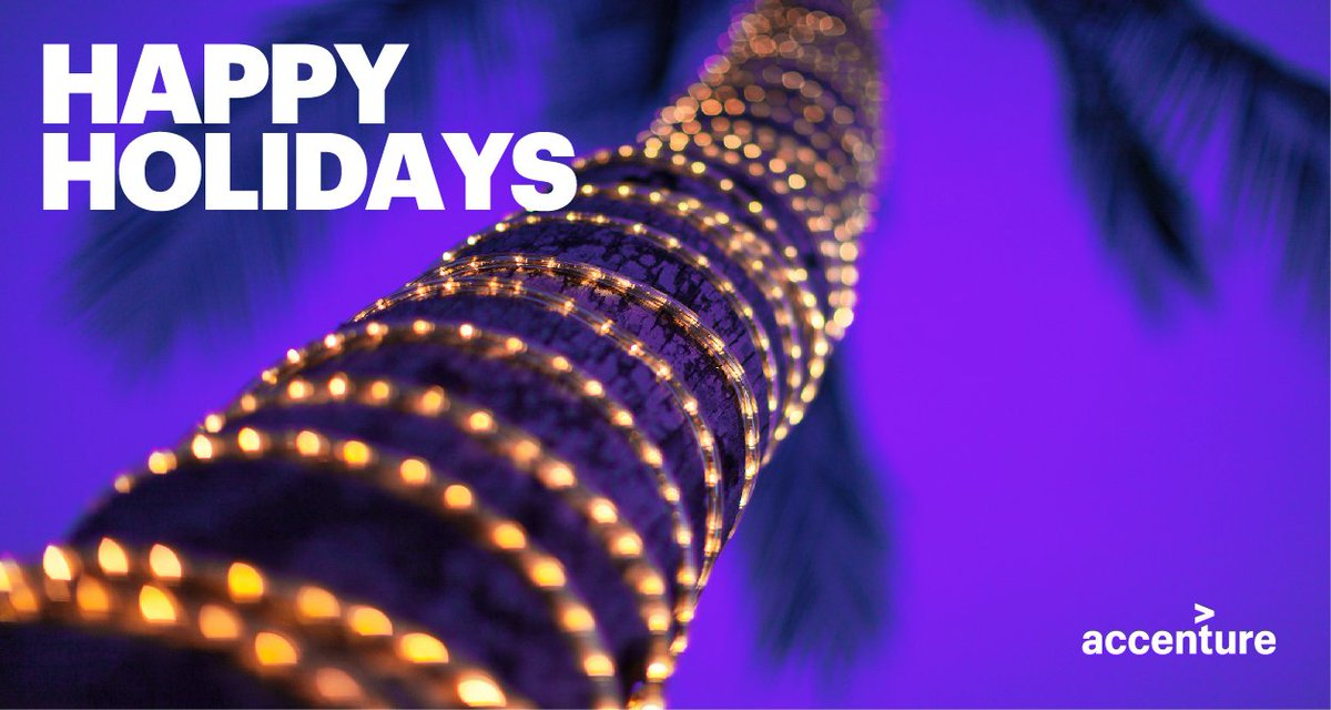 Season's greetings from all of us at @Accenture! #HappyHolidays