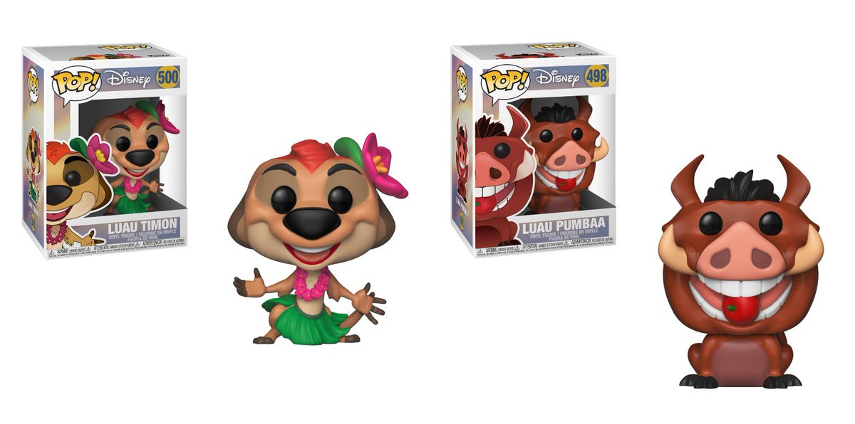 RT & follow @OriginalFunko for a chance to WIN these Timon and Pumba Luau Pop!s.