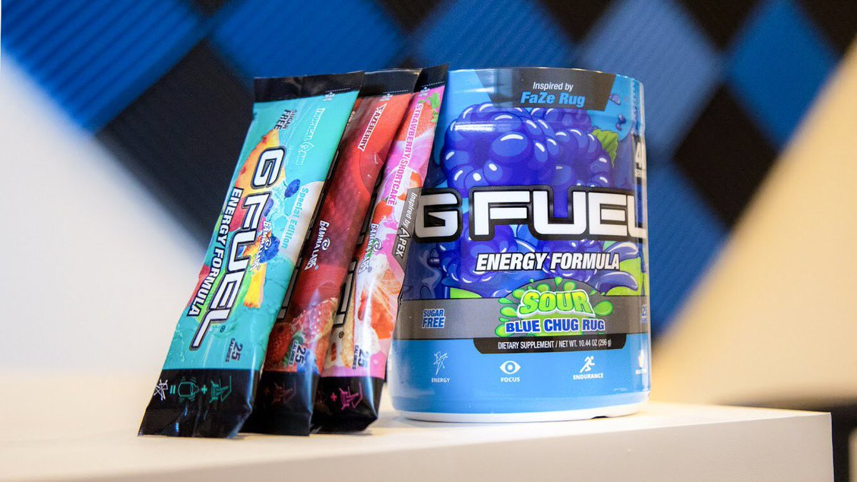 G Fuel On Twitter Miss Out On Our First Sour Blue Chug Rug Flavor Launch No Worries The Tubs Are Back In Stock And Our Bogo Sale Is Up And Running 2