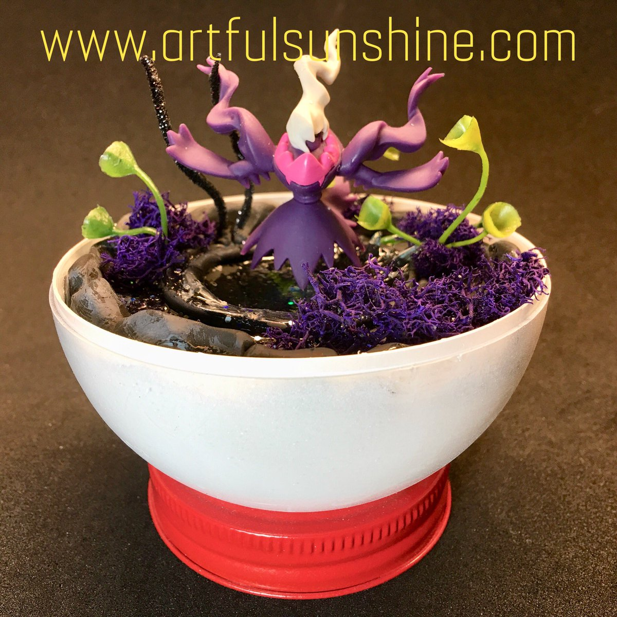 Will Petrey On Twitter Here Is Day 3 Of Pokemon Pokeball Terrarium S From 2018 That Never Got Posted Since All Of Them Are Handmade These Alola Ninetales Vulpix Darkrai Are