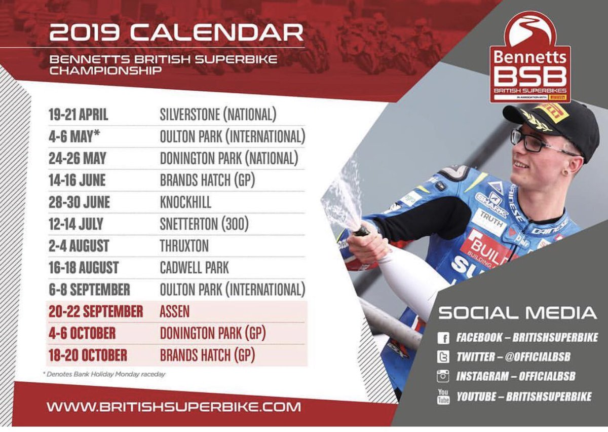 2019 is here  with just over 100 days until @OfficialBSB kicks off!! Which round will you coming to comment and tag your racing buddy to get the #DateInYourDiary . . #BSB2019 #TeamJJ #JJ55 #GP2<br>http://pic.twitter.com/lIzTAwAgZt