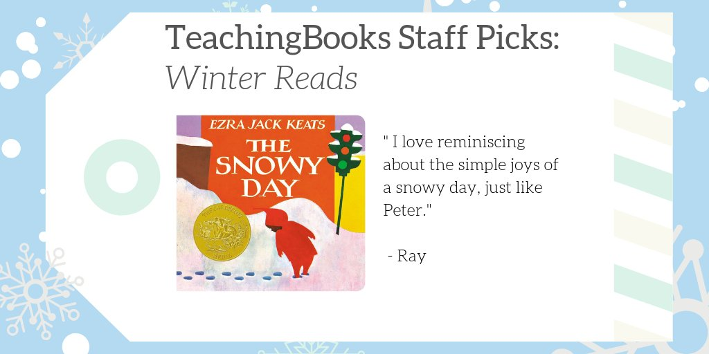 "test Twitter Media - We asked TeachingBooks Staff, ""What would you read over winter break if you were a kid?"" Ray picked The Snowy Day!  Watch a full-length video Read Aloud at https://t.co/ItbwPk23qP  @penguinkids @EJKeats  #TBStaffPicks #WinterReads https://t.co/5zSU7gh9gf"
