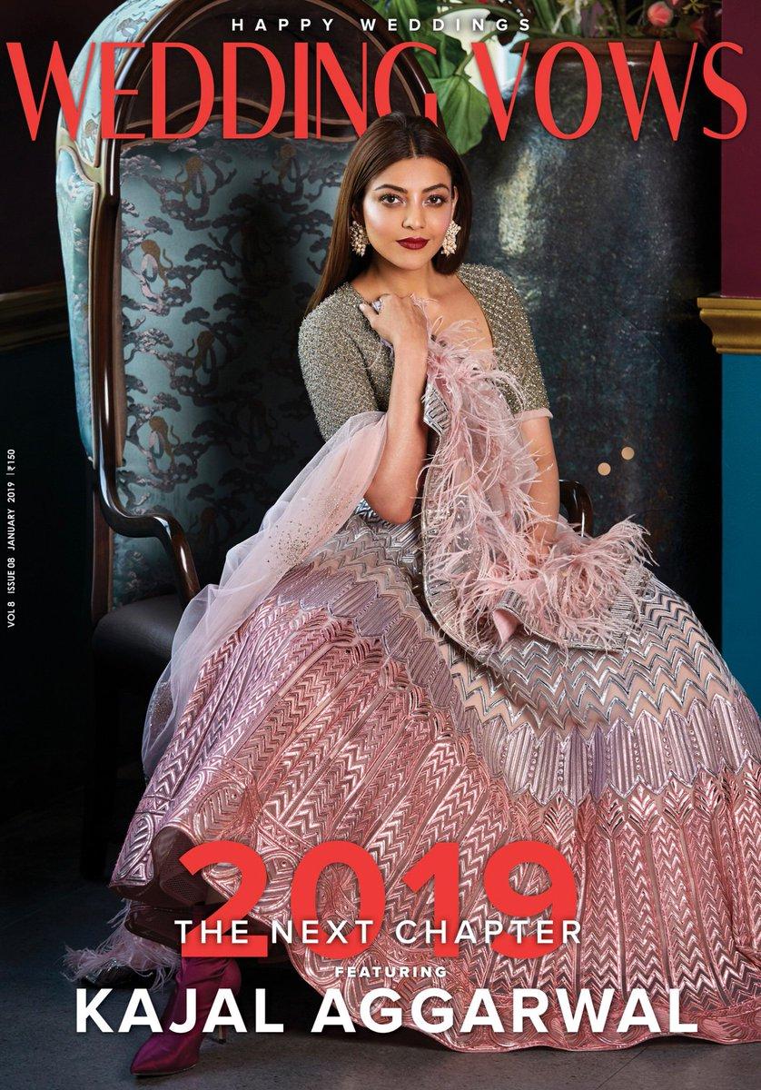 @MsKajalAggarwal for #HappyWeddings January 2019 Issue 😘  #KajalAggarwal ❤️