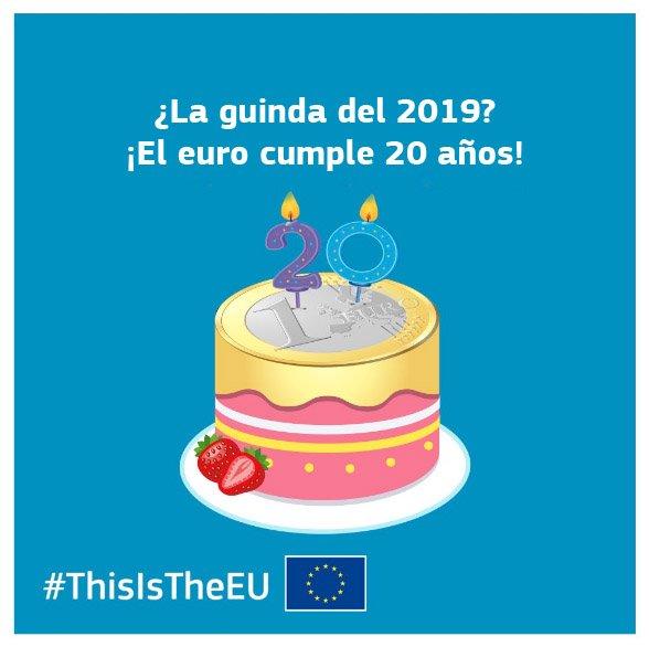 Resultado de imagen de euro cumple 20 años