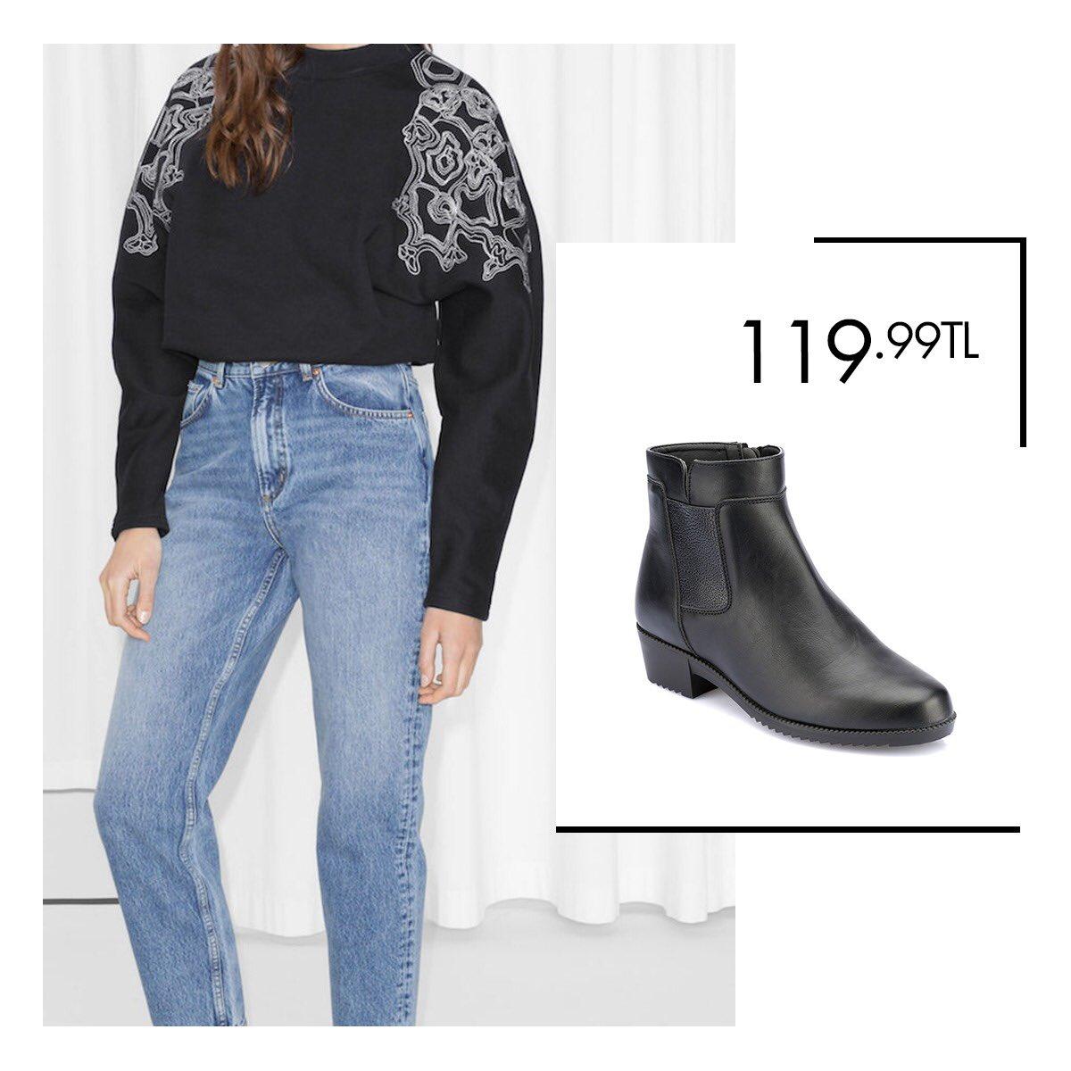 Jean pantolonlarınızla kombinleyebileceğiniz ayakkabı modelleri Polaris'te! Siyah Kadın Bot 36-40 Numara 119,99 TL 🔎 100323682 http://bit.ly/2VuNuL5