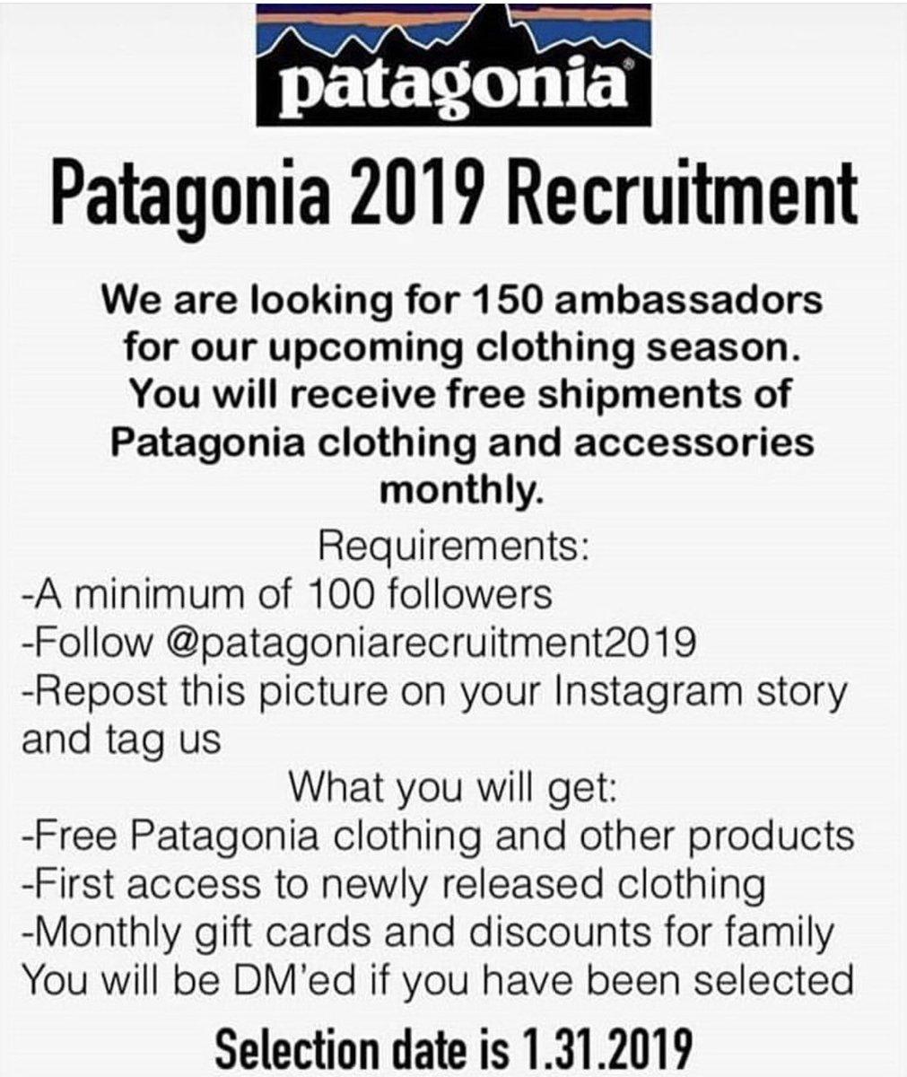 patagoniarecruitment2019 hashtag on Twitter