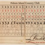 Image for the Tweet beginning: Fishers Island scorecard from Claude