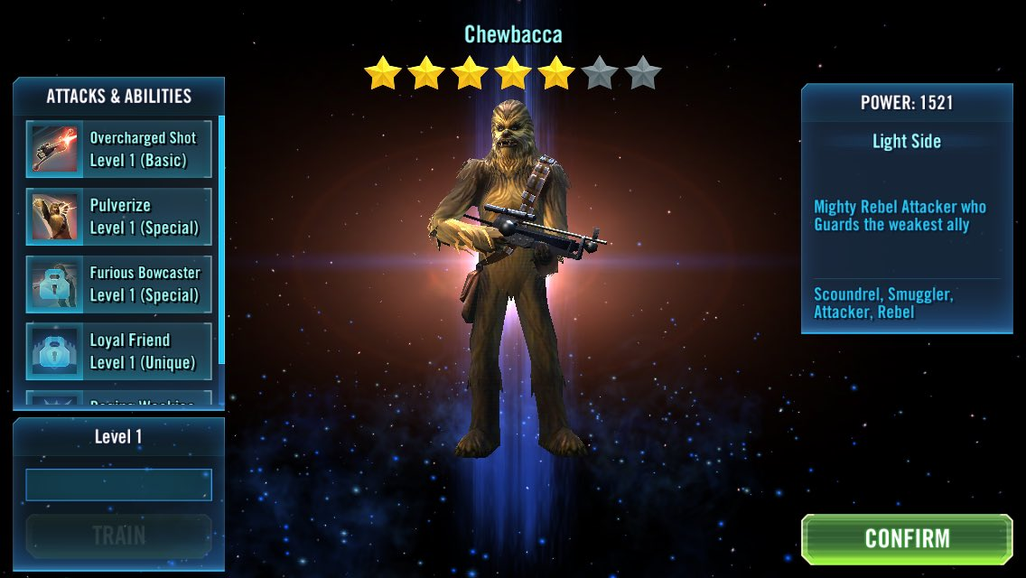 Step 1 done, now for the next 2 #SWGOH #StarWarsGalaxyofHeroes