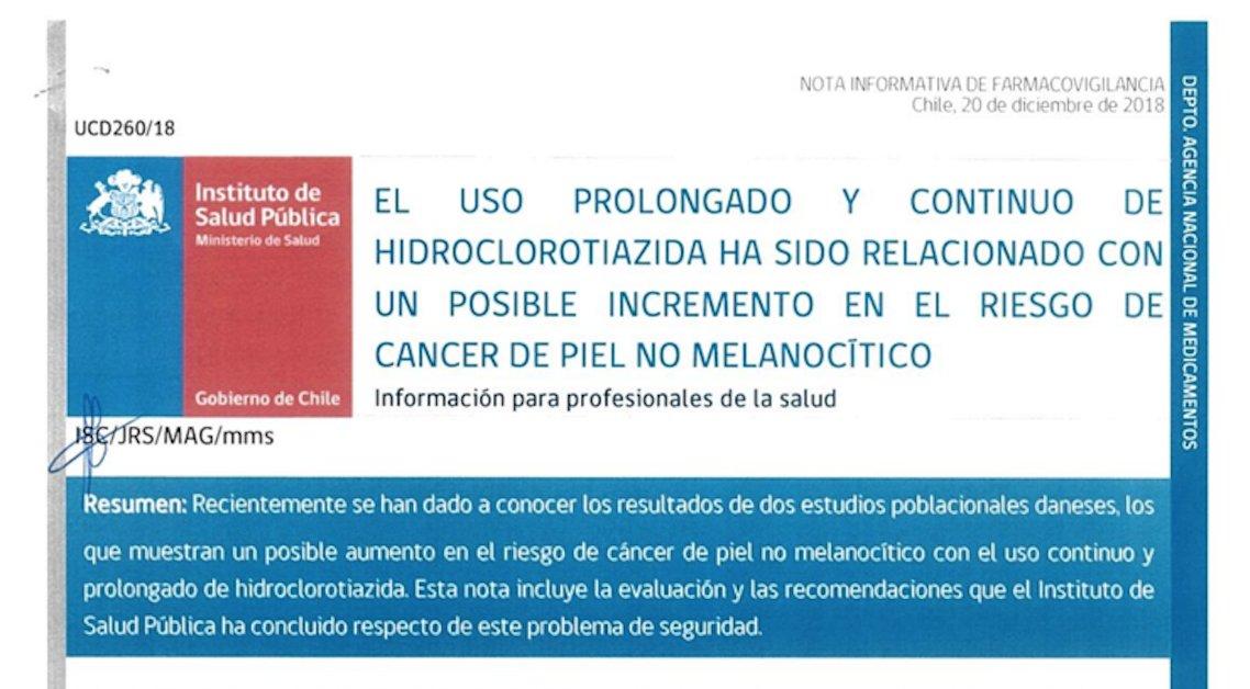 riesgo de diabetes por hidroclorotiazida