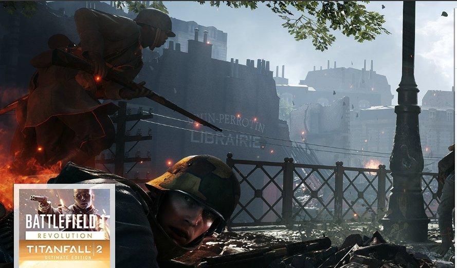 Battlefield 1 Revolution And Titanfall 2 Ultimate Edition Bundle [Online Game Code]  https://amzn.to/2BIznZg
