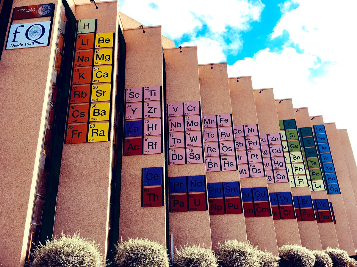 which one is your favourite element front view faculty of chemistry at the university of murcia umu visited the huge periodictable realtimechem
