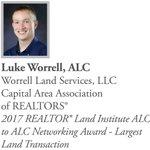 Congratulations to 2018 National Commercial Awards Honoree Luke Worrell, ALC! https://t.co/kput1rL30b #CRE #GETREALTOR @RLILand @ILREALTOR