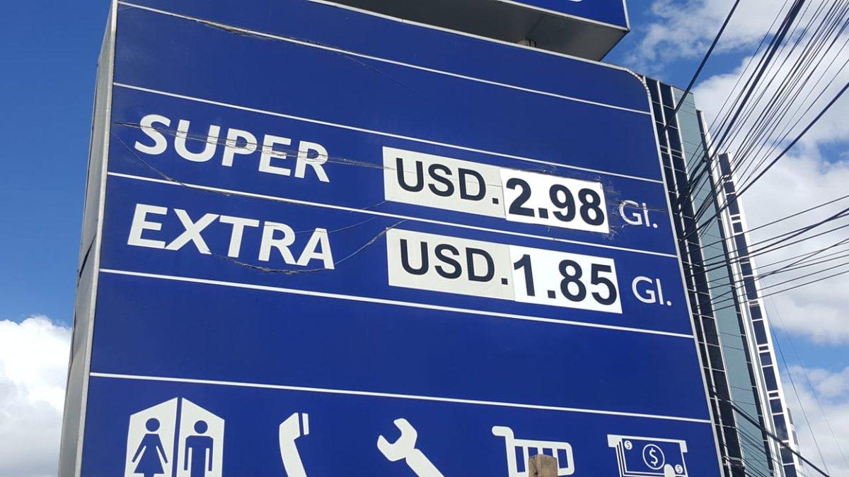 Precio de la gasolina Súper subió de $2.98 a $3.10