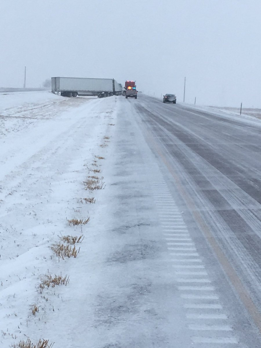 Sd Highway Patrol S Tweet Photo 1 Shows 34 Near Madison Covered With Heavy Slush 2 I 90 In Brule County Ice Roads And