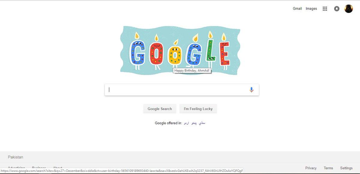 Ahmad Ibrahim On Twitter Today Was My Birthday Thank You Google