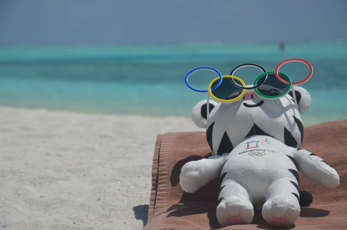 #7 Top Olympic posts of 2018 - Meanwhile on a beach somewhere #Soohorang #PyeongChang2018 #Olympics