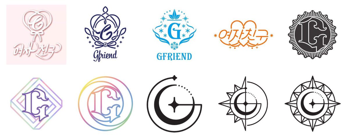 gfriend part 回 on twitter gfriend logos transformation through the years season of glass flower bud snowflake l o l the awakening parallel rainbow time for the gfriend logos transformation