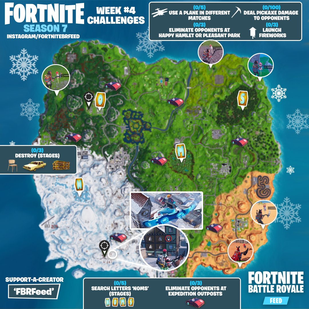 Where Are All The Letters In Fortnite Week 4 | Fort Fastbucks
