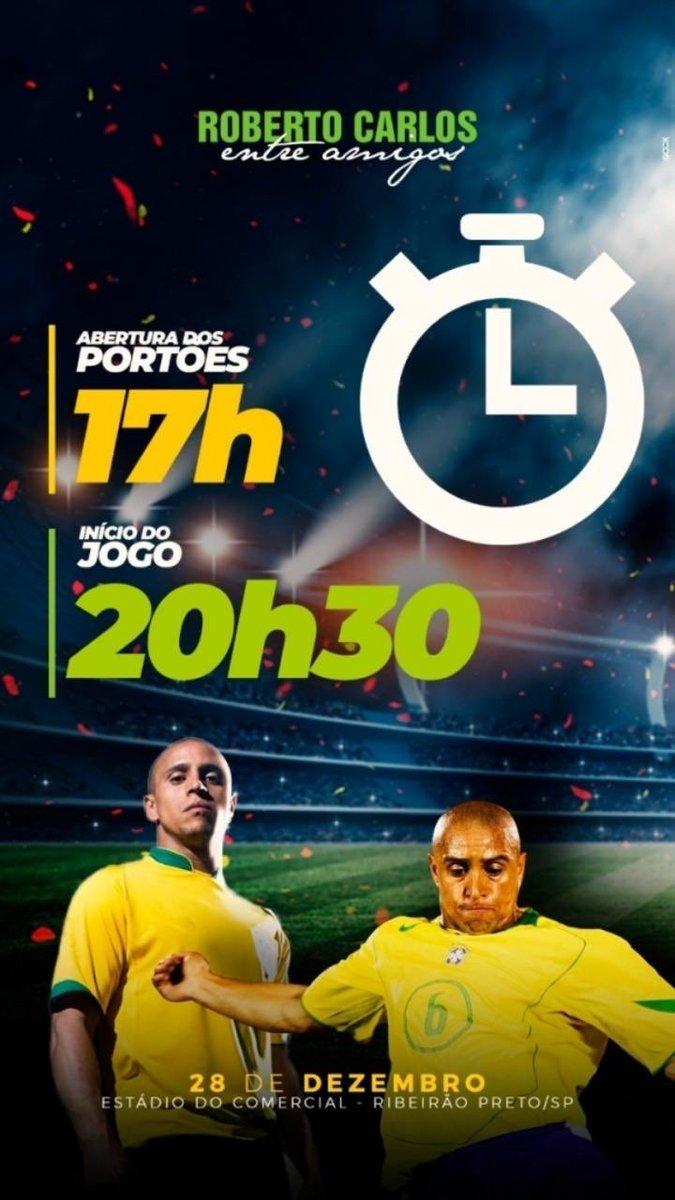 È amanhã , Ribeirão Preto , grande evento beneficiente Roberto Carlos entre amigos nos vemos aí .