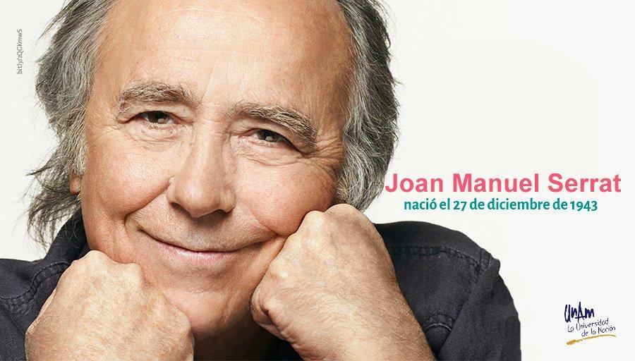 ¡Fiesta en el Mediterráneo! #UnDíaComoHoy de 1943 nació el cantautor Joan Manuel Serrat. ¿A cuáles de sus canciones les tienes más cariño?