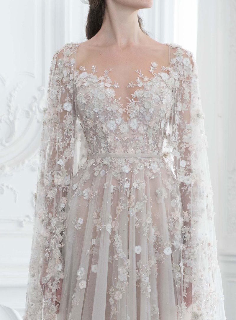 Exquisite Details from the Paolo Sebastian Fall 2018 Couture Collection 😍😍😍