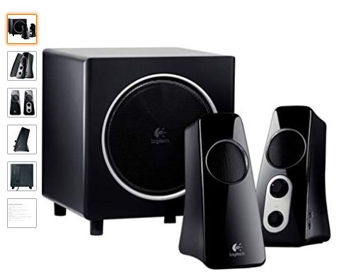 Logitech Speaker System Z523 with Subwoofer 54% Discount on Amazon.  http://short9.com/dEolT