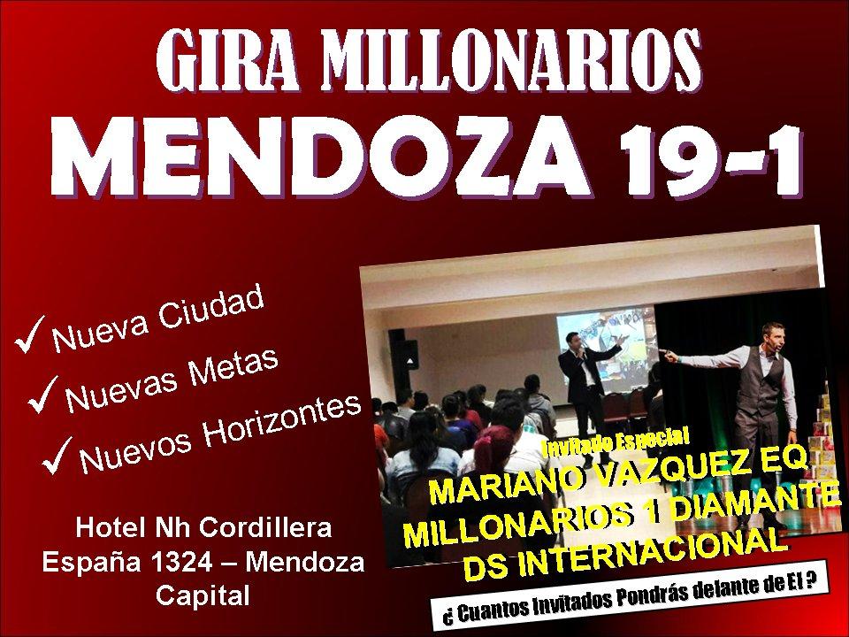 GIRA MILLONARIOS MENDOZA 19 - 1 INVITADO ESPECIAL MARIANO VAZQUEZ EQ MILLONARIOS 1 DIAMANTE DS INTERNACIONAL https://t.co/nsWf14el65