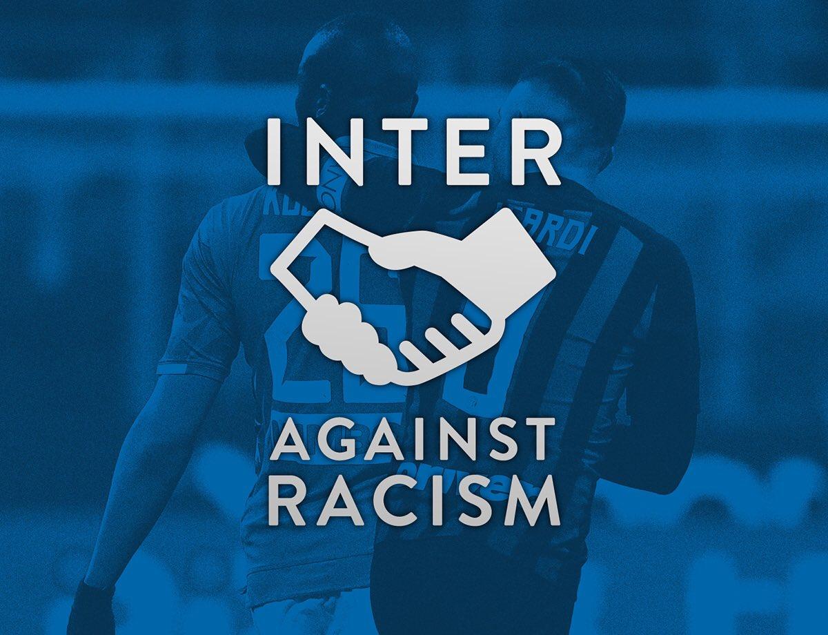 Dal 9 marzo 1908 Inter vuol dire integrazione, accoglienza e futuro. Assieme alla nostra città lottiamo per un futuro senza discriminazioni. Chi non comprende la nostra storia, questa storia, non è con noi. #BrothersOfTheWorld #FCIM