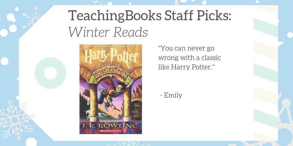 "test Twitter Media - We asked TeachingBooks Staff, ""What would you read over winter break if you were a kid?"" Emily picked the Harry Potter series!  Listen to an audio excerpt at https://t.co/qQP5EvHOgF  #TBStaffPicks #WinterReads  @Scholastic  @jk_rowling https://t.co/nV7nuLO51j"