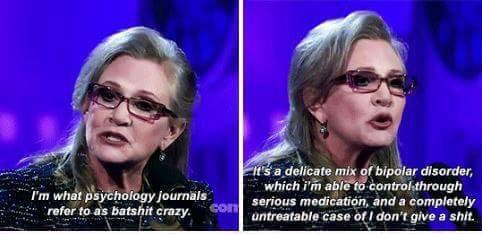 #CarrieFisher was the best