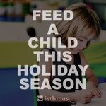 No kid should go hungry, especially during the holidays. Check out Isthmus Canada and the great work they're doing https://t.co/QGFkO3Xj9a Every donation makes a difference, we would like your support #IsthmusCA