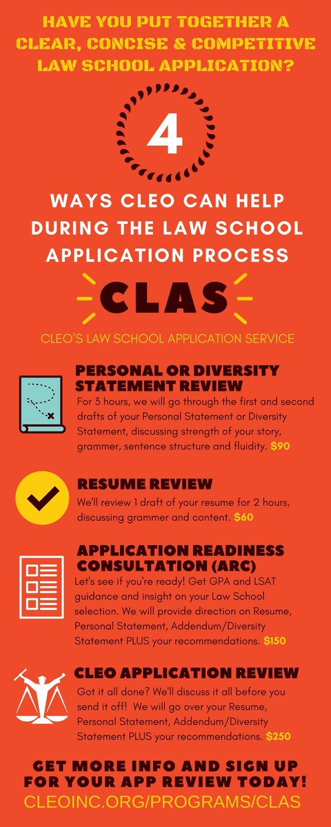 the cleo law school application service offers personal statement review resume review application readiness consultation and cleo application review