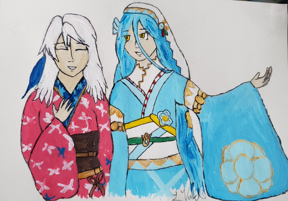 Commission for @GamesideChats of NYAzura and HSMicaiah! Thank you for commissioning me!!!  #FEHeroes #FireEmblem #FireEmblemHeroes #azura #micaiah #commissionpic.twitter.com/nGCDqLuCg3