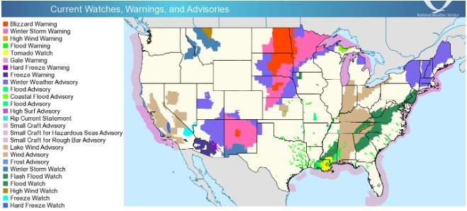 Widespread weather hazards impacting wide swaths Southwest