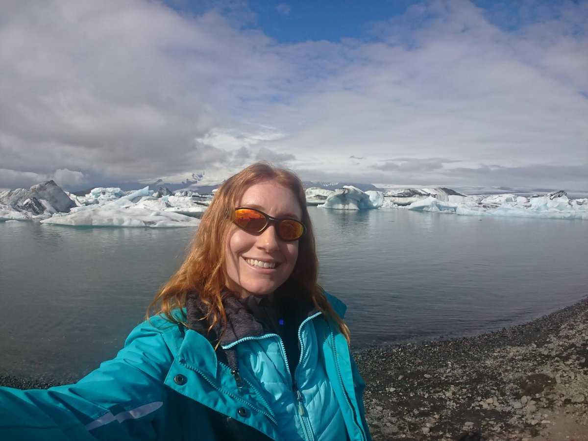 My year in #volcano selfies, a.k a. I love my job.   #science #2018inReview  #1 - Öræfajökull volcano in hiding behind clouds over Jökulsárlón glacial lagoon. (Iceland)