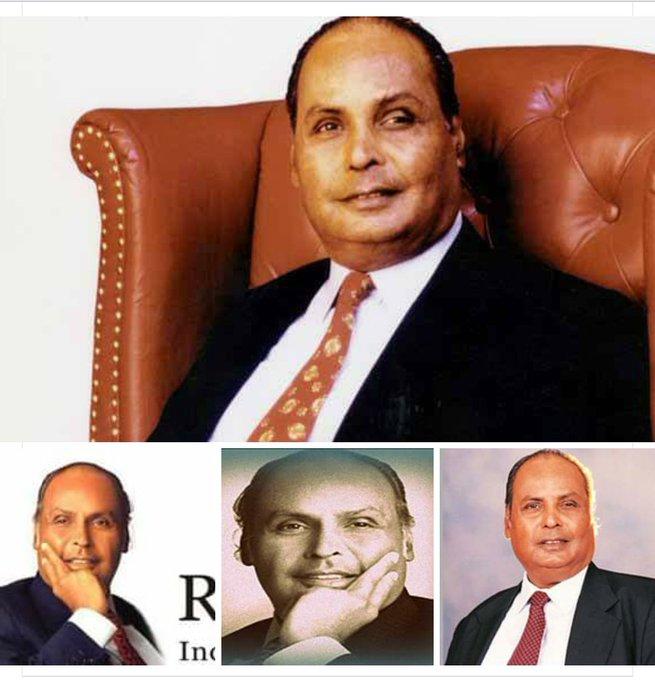 Happy birthday to  Indian business tycoon DHIRUBHAI AMBANI