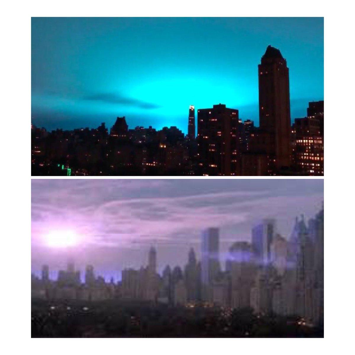 Pulsing blue light freaks Twitter out, but it's definitely not aliens