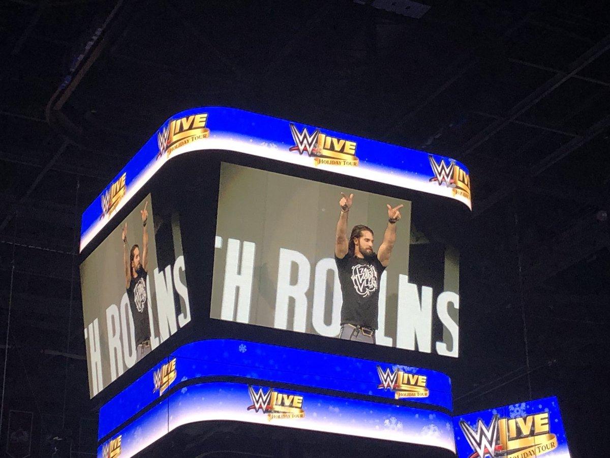 Seth Rollins Rocking @FinnBalor Balor Club Merch after attacking Baron Corbin! #WWEColumbus @WWERollins<br>http://pic.twitter.com/Neq8QuoPef