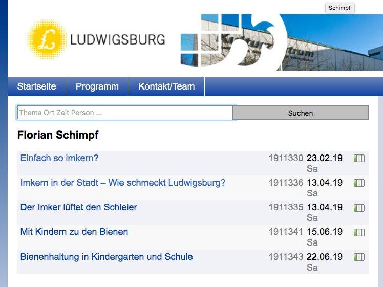 Danke an die VHS in #Ludwigsburg: Das wird ein spannendes Frühjahr in Sachen #Bienen  http://ludwigsburger-honig.de