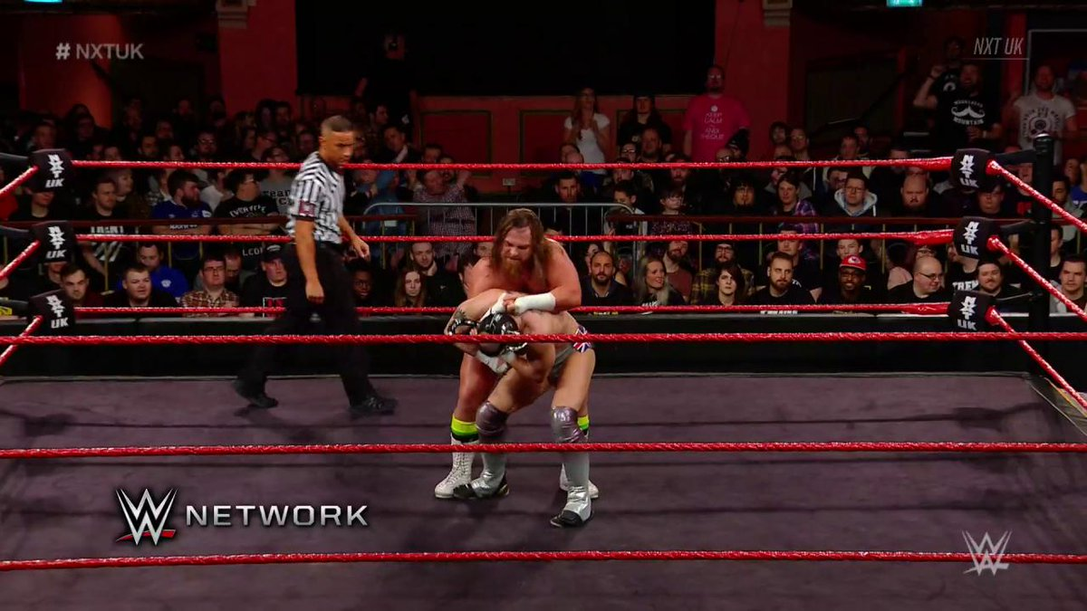 There was no shortage of #Gallus punishment as @Joe_Coffey battled @Ligero1 on #NXTUK!