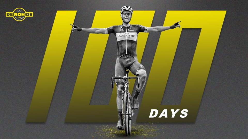 There's nothing quite like the first Sunday of April. Flanders Finest, only 💯 days away. #RVV19