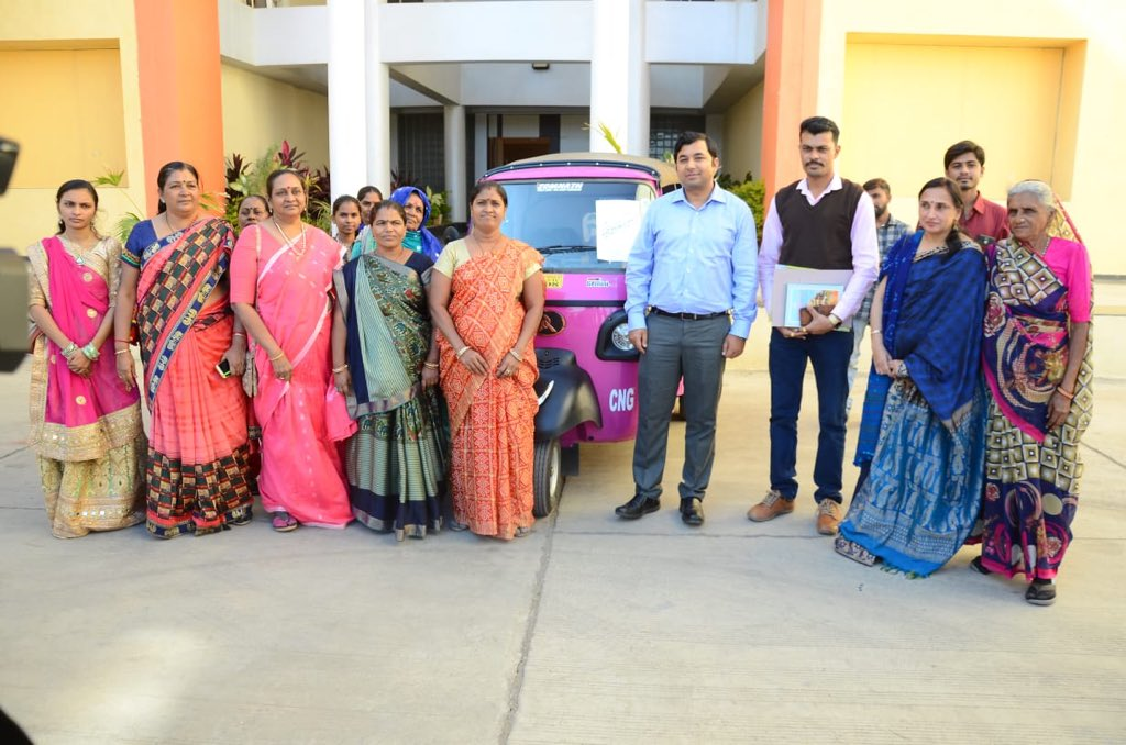 Pink Auto is one of the biggest steps towards women empowerment in the real sense - by giving them a livelihood option. Mahila Samakhya NGO is doing an excellent work in this field. Was very pleased to welcome them to start operations in #GirSomnath  @CMOGuj @pkumarias