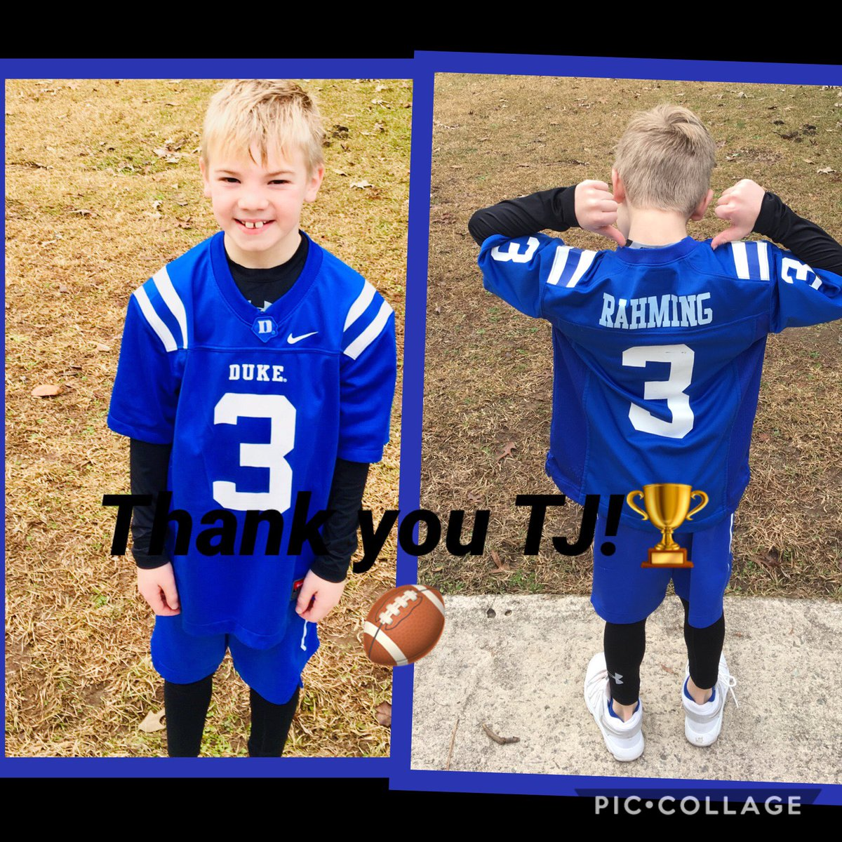 @3GotTheJuice my kid wanted to say thank you and made this. 🏈🔵😈