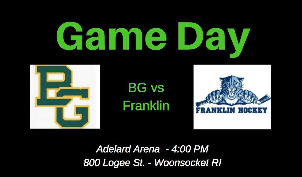 BG Hockey On Twitter Its GAMEDAY The Boys Take Franklin FHS Puck At 400 PM Also Noon Will Compete In A Skills Competition