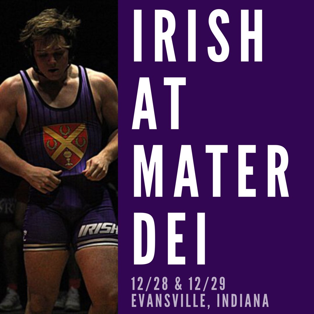 Friday   Saturday the Irish will be on the mats at the Mater Dei Holiday  Classic. Follow along on Twitter  wrestlingryan and Track wrestling. Go  Irish! a8e3118a0