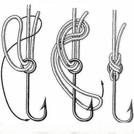 Как вязать леску к крючки