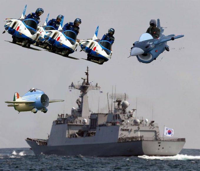 韓国海軍レーダー照射クソコラグランプリ (2ページ目) , Togetter