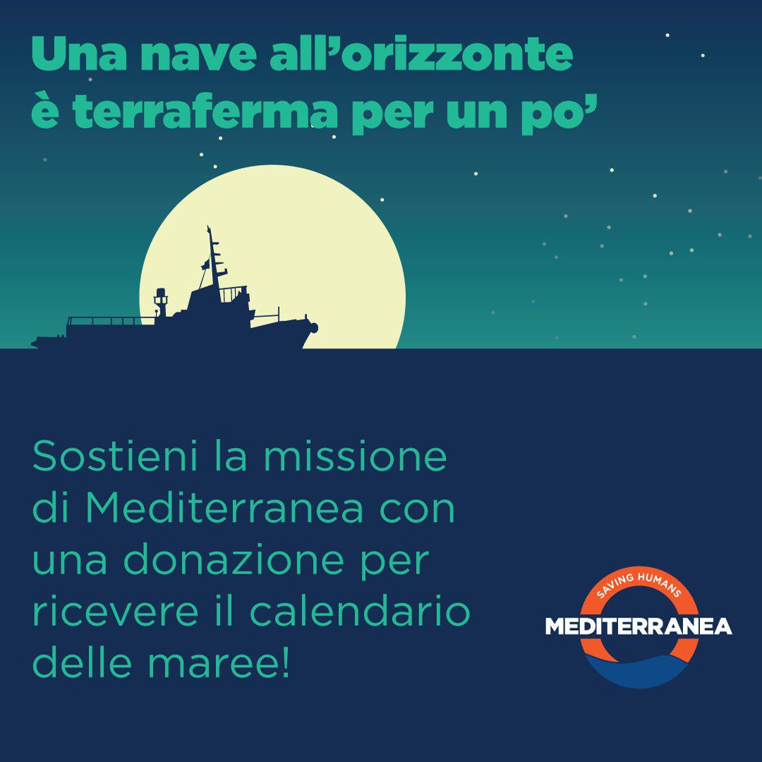 Calendario Delle Maree.Mediterranea Saving Humans On Twitter Un Calendario