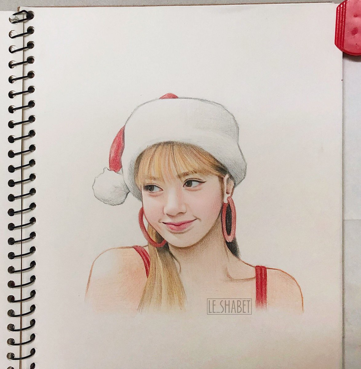 Blackpink Lisa christmas Fanart 💖 Merry Christmas everyone!!! #lisa #blackpink #lisafanart #blackpink #리사
